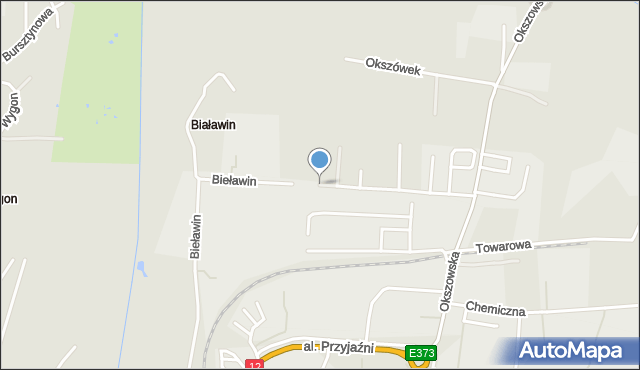 Chełm, Bieławin, mapa Chełma