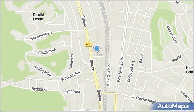 Gdynia, Białostocka, mapa Gdyni