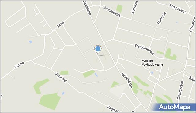Gdynia, Billewiczówny Oleńki, mapa Gdyni
