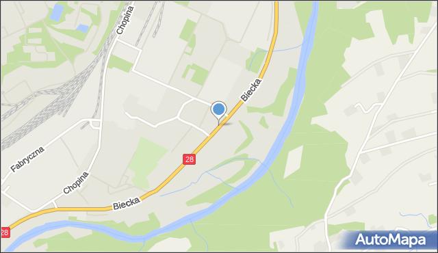 Gorlice, Biecka, mapa Gorlic