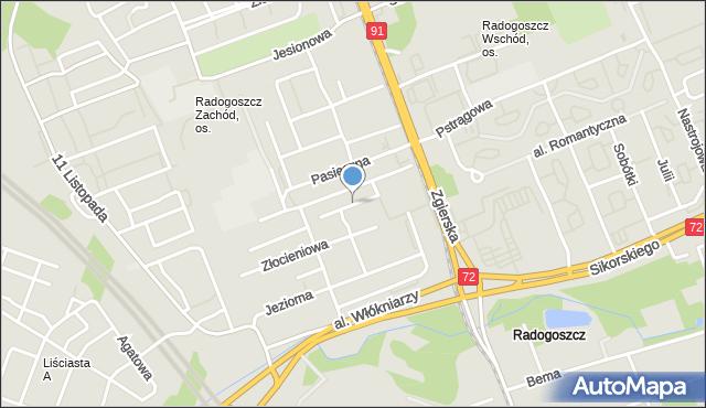 Łódź, Biedronkowa, mapa Łodzi
