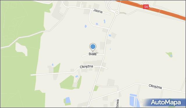Luzino, Biała, mapa Luzino