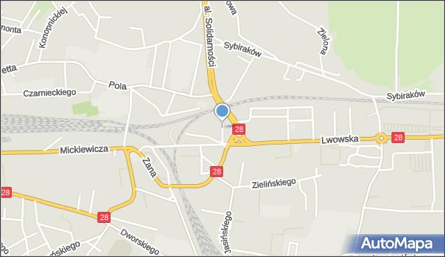 Przemyśl, Bilana Włodzimierza, mapa Przemyśla