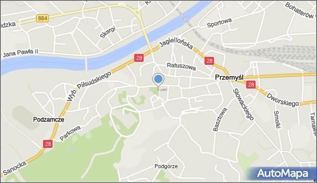 Przemyśl, Biskupia, mapa Przemyśla