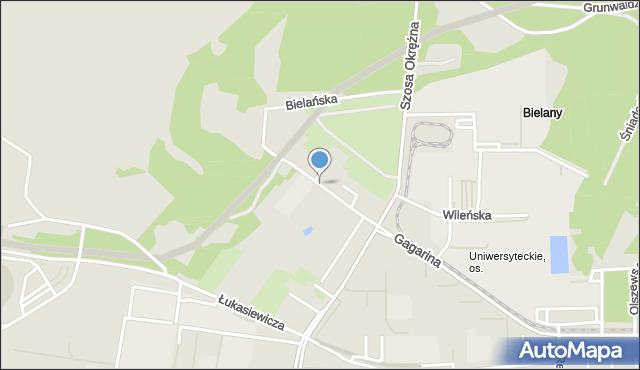 Toruń, Bielańska, mapa Torunia
