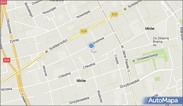Warszawa, Biała, mapa Warszawy