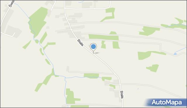 Wieprz powiat wadowicki, Biała Droga, mapa Wieprz powiat wadowicki