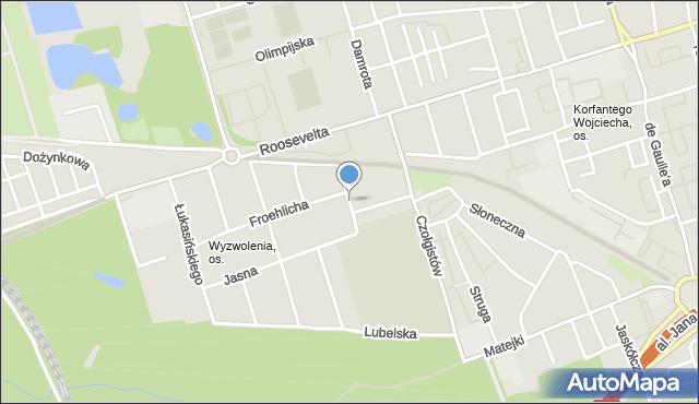 Zabrze, Biniasa Pawła, mapa Zabrza