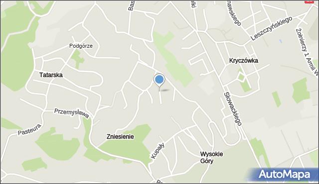 Przemyśl, Bławatkowa, mapa Przemyśla
