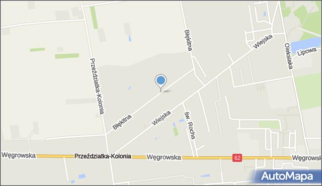 Sokołów Podlaski, Błękitna, mapa Sokołów Podlaski
