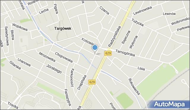Warszawa, Błędowska, mapa Warszawy