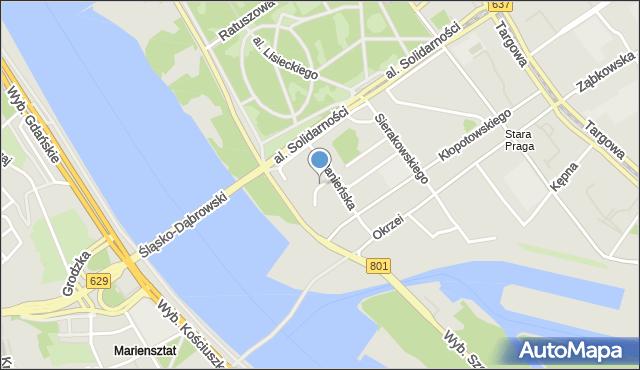 Warszawa, Blaszana, mapa Warszawy