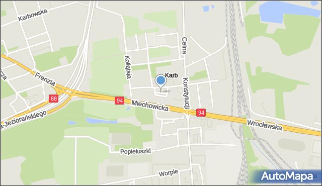 Bytom, Borowa, mapa Bytomia