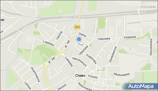 Chełm, Boczna, mapa Chełma