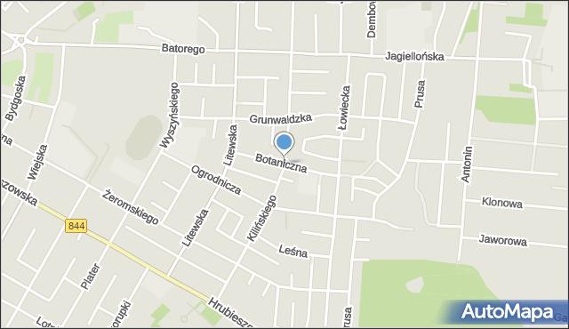 Chełm, Botaniczna, mapa Chełma