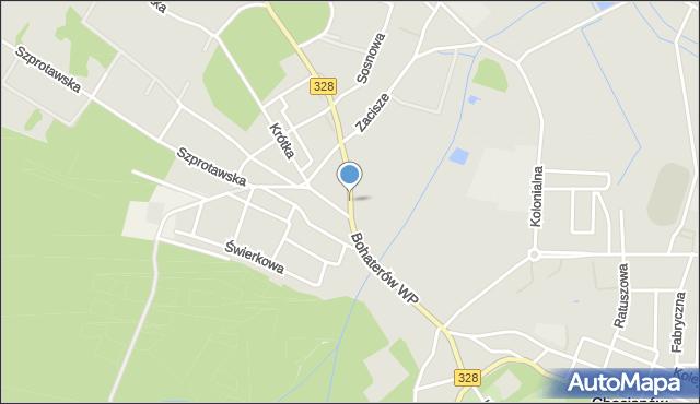 Chocianów, Bohaterów Wojska Polskiego, mapa Chocianów