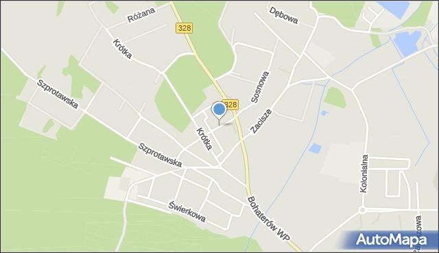 Chocianów, Bolka I Świdnickiego, mapa Chocianów