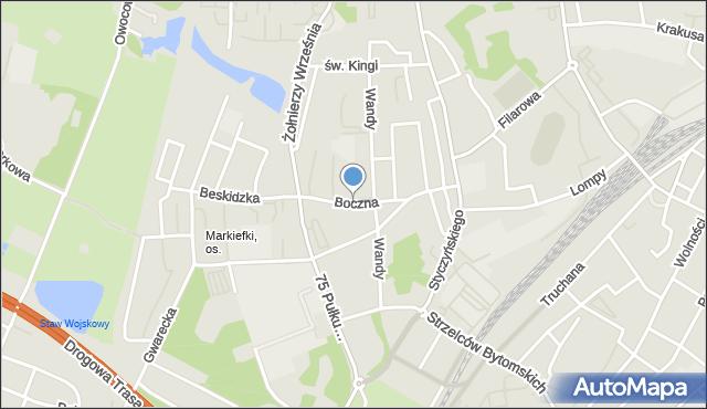 Chorzów, Boczna, mapa Chorzów