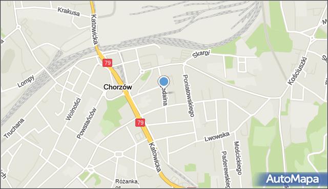 Chorzów, Bogedaina Bernarda, ks. bp., mapa Chorzów