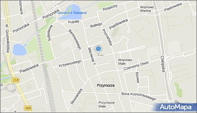 Gdańsk, Bolesława Krzywoustego, mapa Gdańska