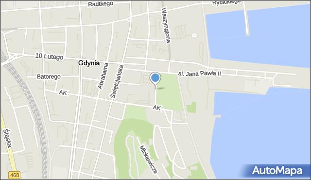 Gdynia, Borchardta Karola Olgierda, kpt., mapa Gdyni