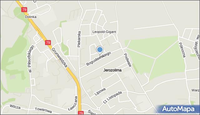 Jaworzno, Bogusławskiego Wojciecha, mapa Jaworzno
