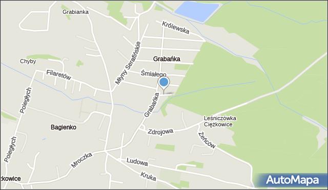 Jaworzno, Bolesława Krzywoustego, mapa Jaworzno