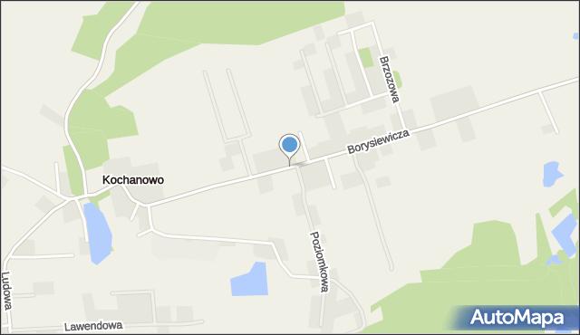 Kochanowo gmina Luzino, Borysiewicza, ks., mapa Kochanowo gmina Luzino