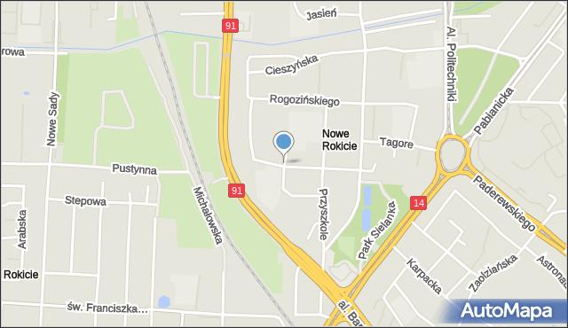 Łódź, Bohdanowicza Karola, mapa Łodzi