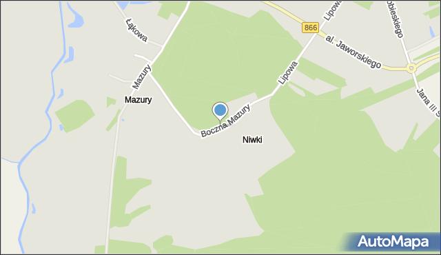 Lubaczów, Boczna Mazury, mapa Lubaczów