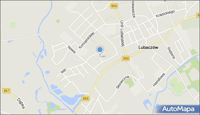 Lubaczów, Bolesława Krzywoustego, mapa Lubaczów