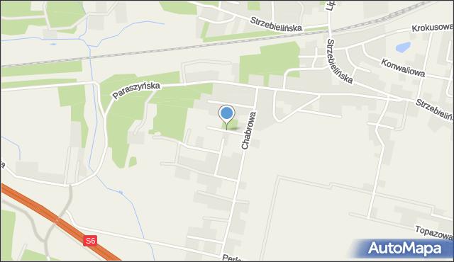Luzino, Borówkowa, mapa Luzino