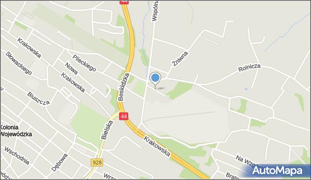 Mikołów, Boczna, mapa Mikołów