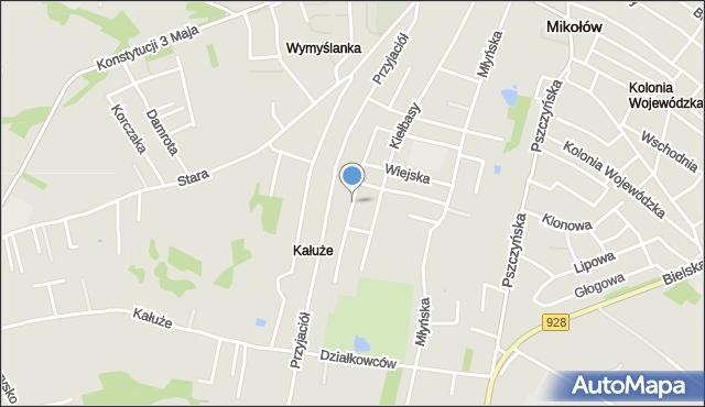 Mikołów, Bolesława Śmiałego, mapa Mikołów
