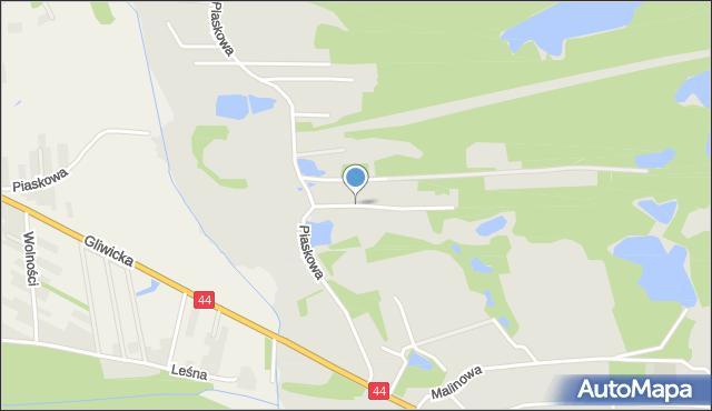 Mikołów, Borowa, mapa Mikołów