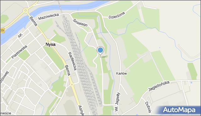 Nysa, Bolesława Śmiałego, mapa Nysy