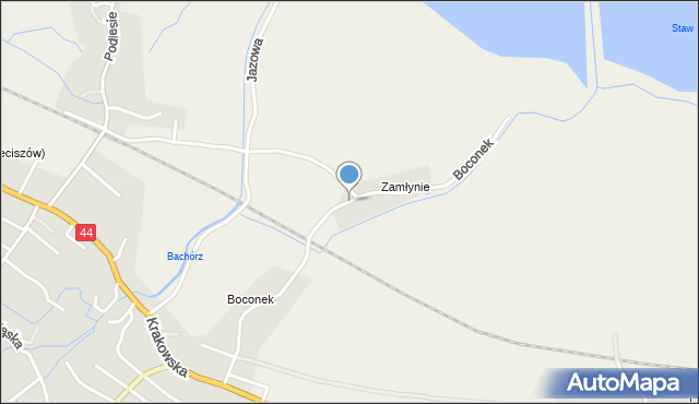 Przeciszów, Boconek, mapa Przeciszów