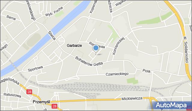 Przemyśl, Bogusławskiego Wojciecha, mapa Przemyśla