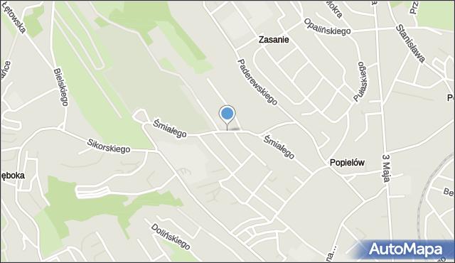 Przemyśl, Bolesława Śmiałego, mapa Przemyśla