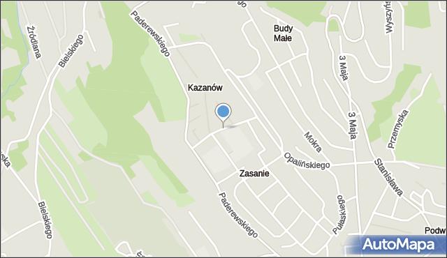 Przemyśl, Boruty-Spiechowicza Mieczysława, gen., mapa Przemyśla