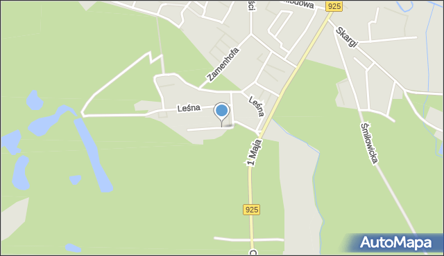 Ruda Śląska, Borowa, mapa Rudy Śląskiej