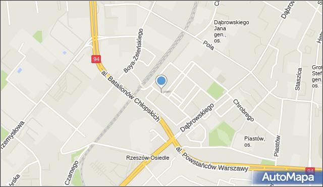 Rzeszów, Bohaterów Westerplatte, mapa Rzeszów
