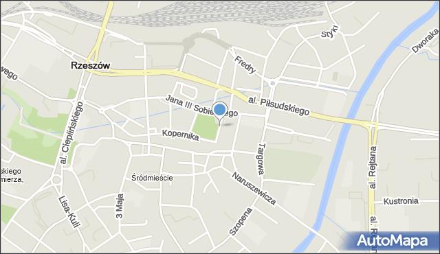 Rzeszów, Bożnicza, mapa Rzeszów