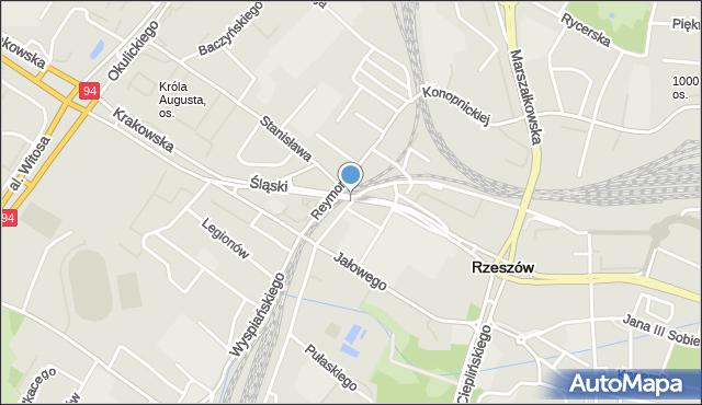 Rzeszów, Borelowskiego Marcina, mapa Rzeszów