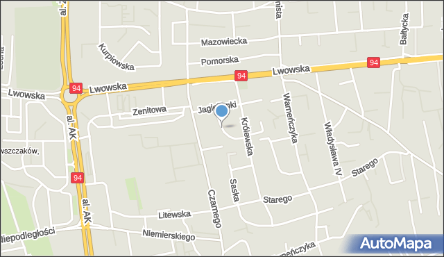 Rzeszów, Bolesława Śmiałego, mapa Rzeszów