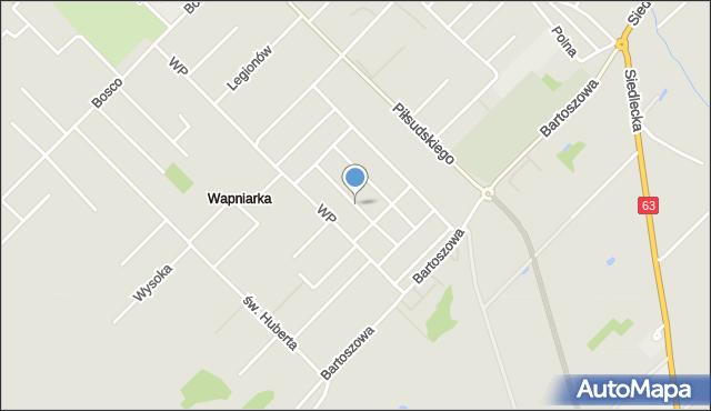 Sokołów Podlaski, Bohaterów Westerplatte, mapa Sokołów Podlaski