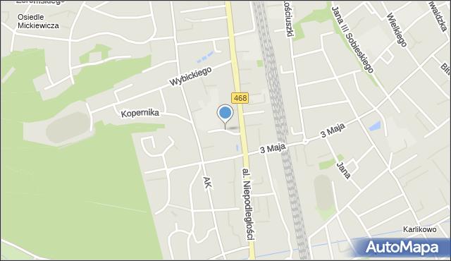 Sopot, Boczna, mapa Sopotu