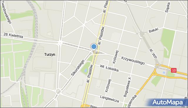 Szczecin, Bolesława Krzywoustego, mapa Szczecina