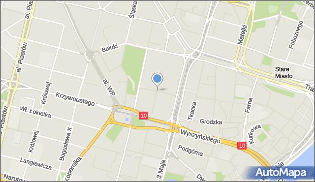 Szczecin, Bogurodzicy, mapa Szczecina