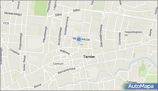 Tarnów, Bóżnic, mapa Tarnów